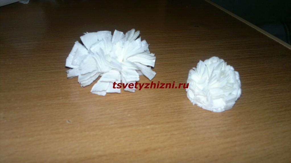 Как сделать хвост зайца из бумаги