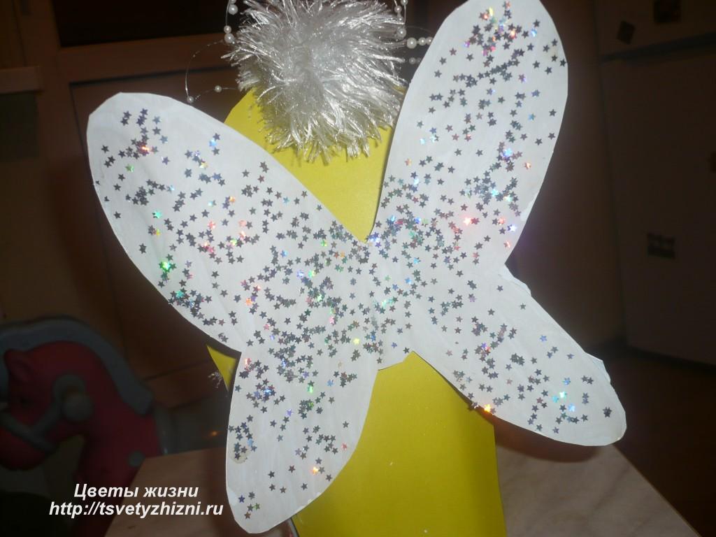 Рождественский ангел своими руками из картона