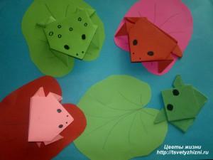 Урок по оригами лягушка