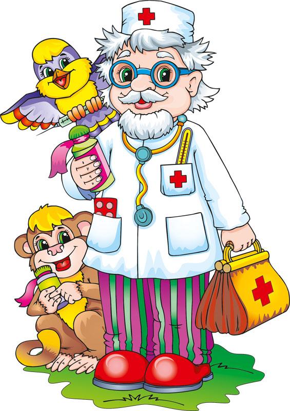 Открытка доктора айболита